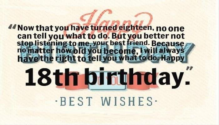 Turning 18 Birthday Quotes