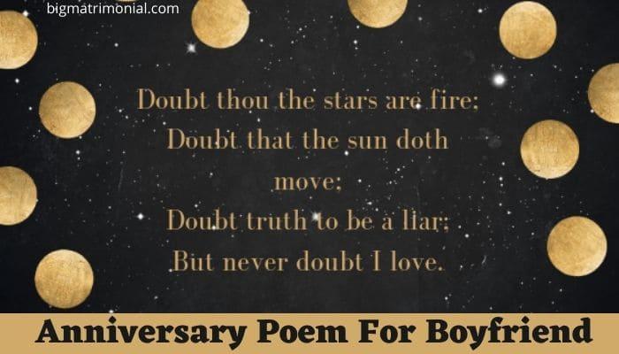 Anniversary Poem For Boyfriend