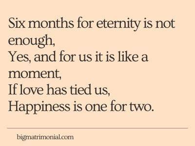 Happy 6 Month Anniversary Poems