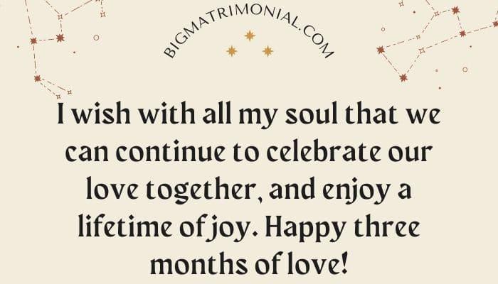 Quotes 3 anniversary months relationship 80 Heartfelt