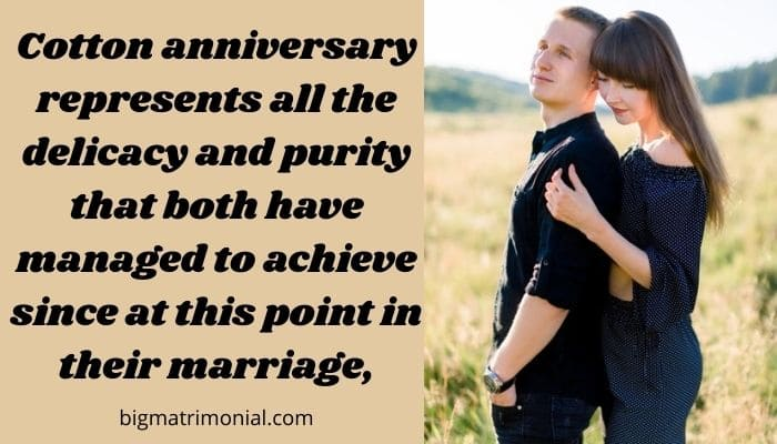 cotton anniversary meaning