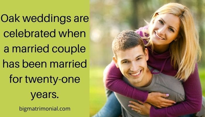 21 Year Wedding Anniversary Meaning